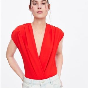 -NWT- Red Zara Crossover Body Suit